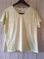 Athleta Workout Tee Size XL Short Sleeves Polyester Lycra Top
