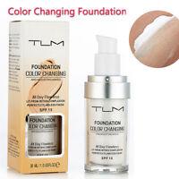 Le maquillage de base liquide TLM Color de 30ml change le teint de votre peau en