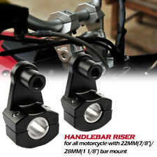 """2x Motorcycle HandleBar Handle Fat Bar Mount Clamps Riser Universal 7/8"""" 22/28mm (Fits: Bourget's Bike Works)"""
