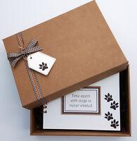 "Pet Dog Scrapbook, Handmade 8""x6"" memory book, Puppy Photo Album,can personalise"