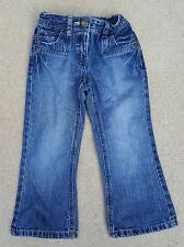 NEXT Girls Blue Bootcut Jeans Trousers Pants 100% Cotton 4 Years