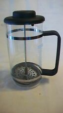 "Bodum French Press Manual Coffee Maker, Black with Clear Glass, 7.5"" Tall"