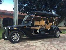 ACG BLACK california roadster Golf Cart Street Legal Lsv 6 Passenger Seat limo