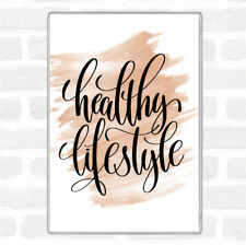 Watercolour Healthy Lifestyle Quote Jumbo Fridge Magnet