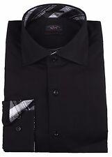 "Paul & Shark YACHTING Hemd Shirt Langarm Größe 42 US 16.5"" BLACK COLLECTION Neu"
