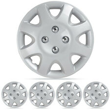 """Wheel Covers Set 14"""" Silver Hubcaps Wheel Cover OEM Replacement Hub Caps"""