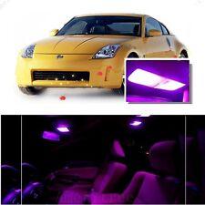For Nissan 350Z 2003-2009 Pink LED Interior Kit + Pink License Light LED