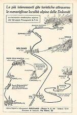 W9822 Dolomiti - Ferrovie Elettriche Alpine - Pubblicità del 1934 - Old advert