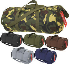 Camo Tactical Shoulder Bag Sports Canvas Gym Weekend Carry Strap Tote Duffle