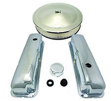 BB Ford FE Chrome Steel Engine Dress Up Kit 332 352 360 390 427 428 Hot Rod V-8
