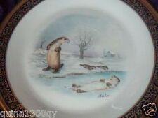 Lenox Boehm Woodland Wildlife Plate Otters 1982