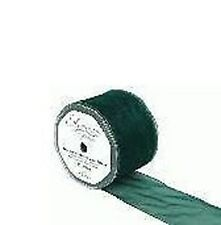 Roll of Sheer Organza Wired Ribbon Green 70mm x 20M