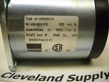 BINDER 41 42609K02 SOLENOID ACTUATOR ASSEMBLY 24V NEW CONDITION NO BOX
