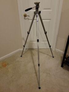 "VELBON VE-3 Professional Aluminum Tripod 22""-60"" Silver Camera/Video Adjustable"