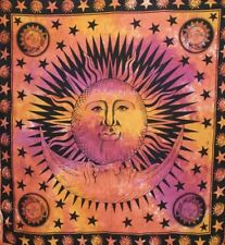 Sun, Moon, & Stars Tapestry Warm Queen Decorative Boho Hippie Decor Wall Hanging