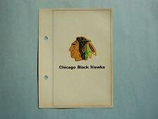 1971/72 TORONTO SUN COLUMBIAN NHL ACTION HOCKEY PHOTO CHICAGO BLACK HAWKS LOGO