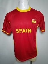 USA EB Sports XL Spain Soccer Team Men's Red Yellow Jersey (Extra Large)