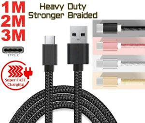 Charger Cable For Samsung Galaxy S9 S8 S10 S20 + Type USB C Phone Charging Lead