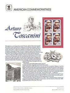 #327 25c Arturo Toscanini #2411 USPS Commemorative Stamp Panel