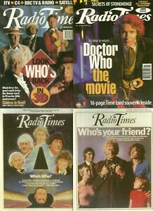RARE Complete Set - RADIO TIMES Postcards - DOCTOR WHO - 1997 - + Bonus cards