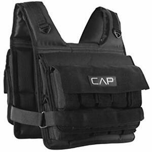 CAP Barbell Short Adjustable Weighted Vest 20 Lb Vests Strength Training Fitness