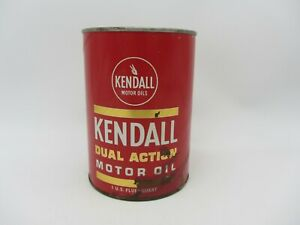 VTG FULL 1 QUART KENDALL DUAL ACTION SAE 30 HD MOTOR ENGINE OIL CARDBOARD CAN