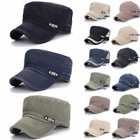 Denim Trucker Snapback Army Cadet Patrol Castro Flat Cap Men Women Summer Hats