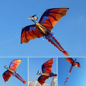 3D Dragon Single Line Kite For Adult Kids Classical Sports Outdoor Easy To Fly