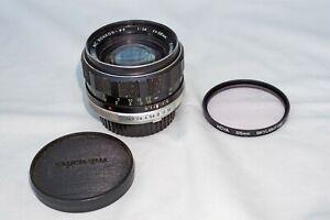 MINOLTA MC 58MM F1.4 SLR FILM/DIGITAL LENS.