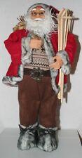 Dekoration Weihnachtsmann mit Ski, Skistöcken und Jutesack 63 cm h Weihnachten