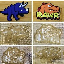 Dinosaurs chocolate mould can use on fondant soap or plaster