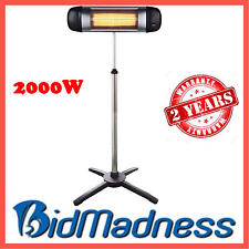 NEW 2000W OUTDOOR PATIO ELECTRIC INFRARED RADIANT HEATER w ADJUSTABLE STAND