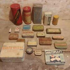 Lot boites anciennes médicaments métal