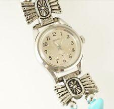 Seiko Woman's 2104-0138 Mechanical 17 Jewel Watch Silver Analog Dial Western