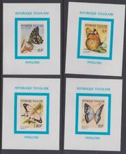 IB156 - INSECTS BUTTERFLIES TOGO TOGOLAISE 1990 BUTTERFLIES LUXE IMPERF MNH