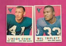 1959 TOPPS NEW YORK GIANTS NRMT CARD LOT  (INV# C6276)