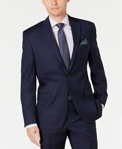 $450 Lauren Ralph Lauren 100% Wool Natural Stretch UltraFlex Blazer Blue Sz 44L
