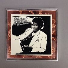 VINTAGE RARE 1980s CARNIVAL FAIR PRIZE GLASS MIRROR MICHAEL JACKSON THRILLER