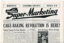 "1955 Grocery Stores Industry Newsletter: ""MODERN SUPER-MARKETING"" - Fleer Gum +"