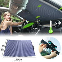 46x150cm Auto Car Front Windshield Curtain Sun Visor UV Protection Retractable