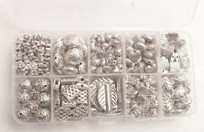 DIY 395PCS/BOX  Metal Mix Styles Spacer Beads W/Container Flower Heart Leaf etc