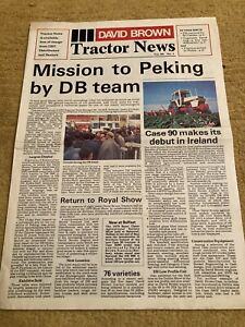 David Brown Case Tractor News Brochure Leaflet 90 Series 996 4WD 1690 1210 DB