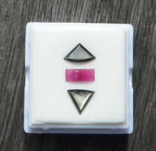 Classic Black Star Sapphire with Fancy Ruby Cabochon Set Thai / Viet 4.60 Carats