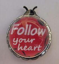 F Follow your heart Ladybug Message Figurine miniature ganz