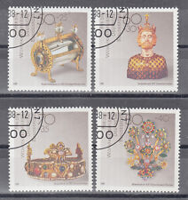 5949 )Germany beautiful Stamps 1988 Gold Jewelery Precious Stones Lion Handcraft