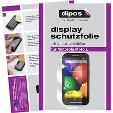 2x dipos Motorola Moto E klare Displayschutzfolie Crystalclear unsichtbar Folie