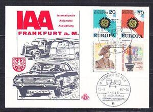 Germany 1967 event card IAA Frankfurt exhibition Car,truck,bus.