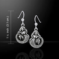 Mermaid Earrings .925 Sterling Silver by Peter Stone Jewelry