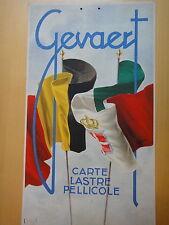 1930-GEVAERT Carte Lastre Pellicole-CARTONCINO DA APPENDERE-FOTOGRAFIA+