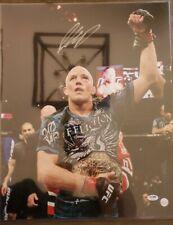 George St.Pierre Autograph Signed UFC 16X20 PHOTO w/COA/PSA/DNA